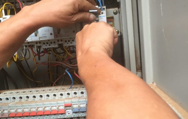 Electrical services installation of control timer and contactor
