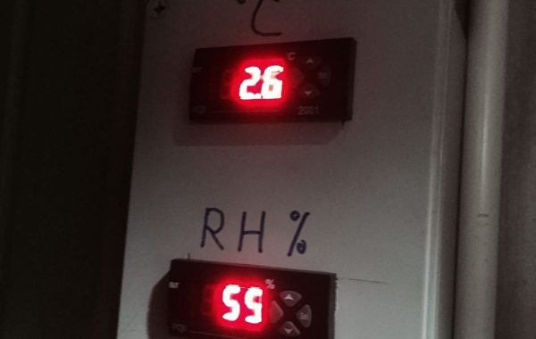 Monitor of cold room temperature rh